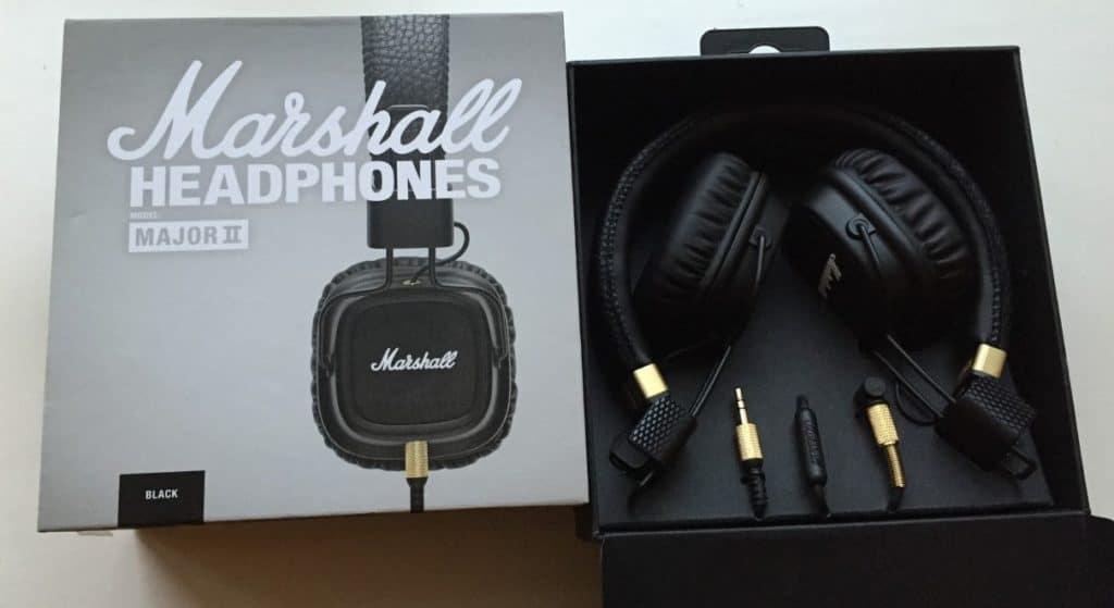 Marshall Major 2 høretelefoner med komplet kasse