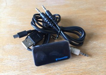 Opladelig Bluetooth sender til trådløs lyd